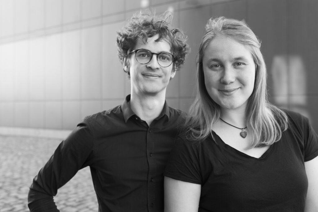 Christian Berlin und Laura Berkemeyer von Peng! Impro aus Münster