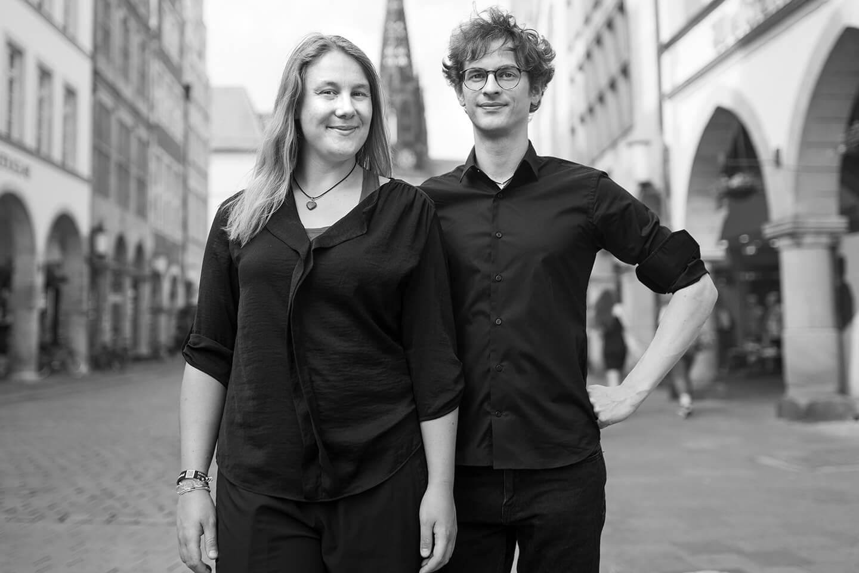 Peng! Impro-Stadt-Spaziergang in Münster mit Laura Berkemeyer und Christian Berlin